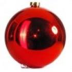 арт.Н0625 Шар глянцевый, d=15см, цвет - красный
